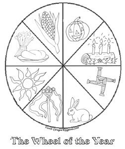 free wiccan coloring pages - photo#24