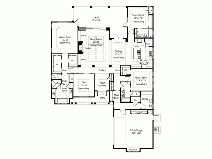372 best images about floor plans on pinterest for French country house plans open floor plan