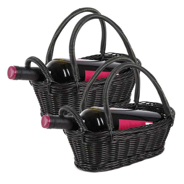 Black #Wine #Baskets -  Just add a pretty ribbon or bow and your favorite bottle of wine to make this a great gift!