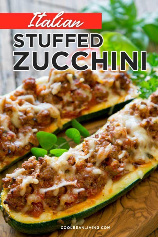 Stuffed Zucchini Recipe In 2020 Zucchini Ground Beef Recipe Zucchini Boats Recipe Ground Beef Ground Beef Recipes Easy