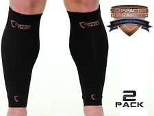 Copper Tough Calf Compression Sleeves - High Performance Copper Infused Leg C...