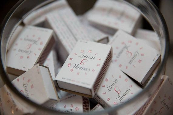 NYE wedding match box covers. Designed to fit any matchboxes. Shipping worldwide.
