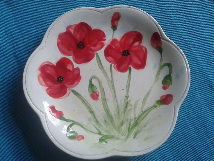 Plate with poppies - PZs