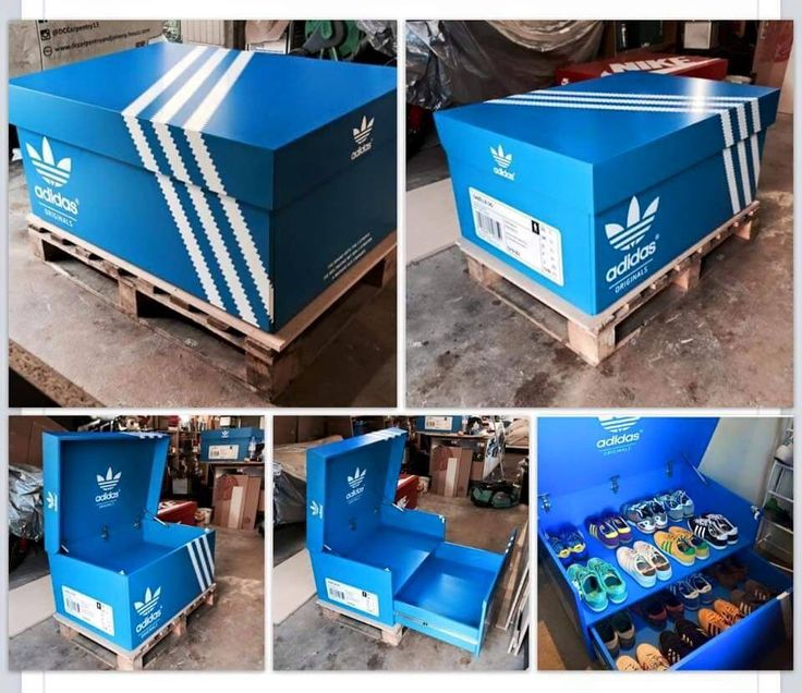 ...custom Adidas Shoe Box... #ThreeStripesMovement