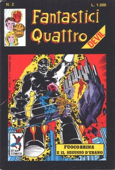 Cover for Fantastici Quattro (Edizioni Star Comics, 1988 series) #2