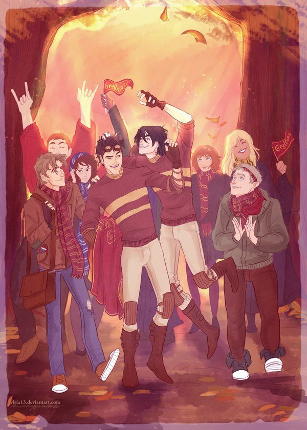 Illustrated scenes from Harry Potter: The Marauders' Generation