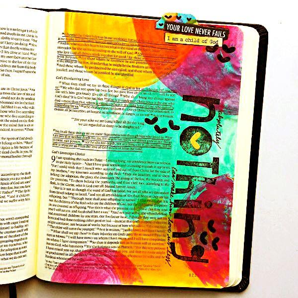Tai Bender | Mixed Media Art Journaling Bible | Romans 8