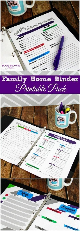 Family Home Binder Printables 13 best NannyingChildcare