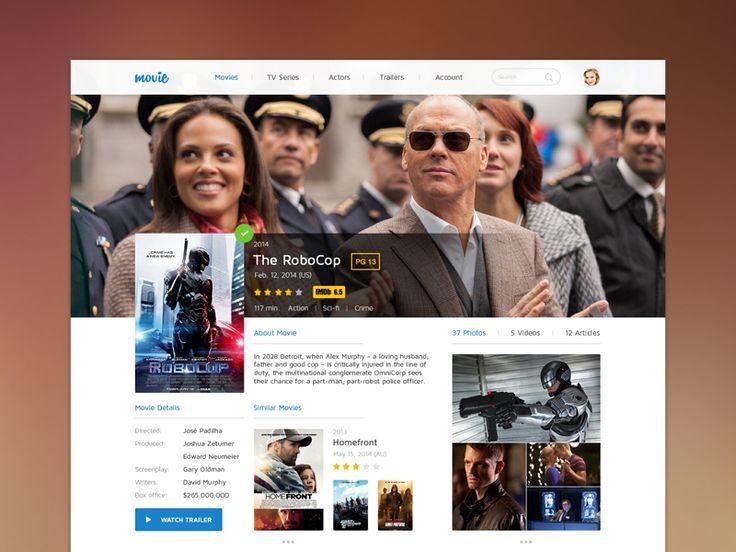 Movie UI by Levani Ambokadze