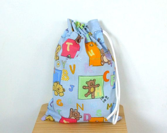 Drawstring Bag for Slippers  Sneakers  Toys Bag  by CottnLove