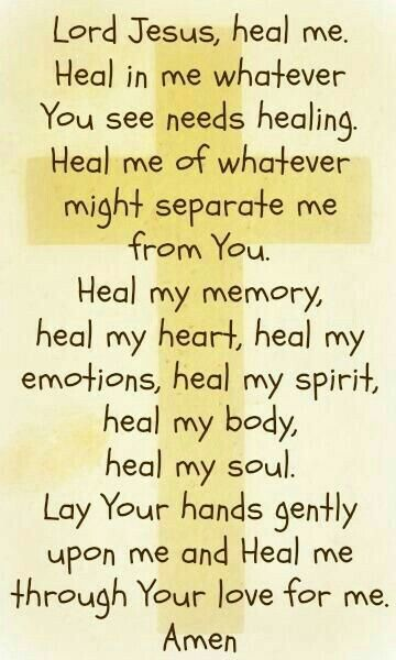 Lord Jesus, heal me