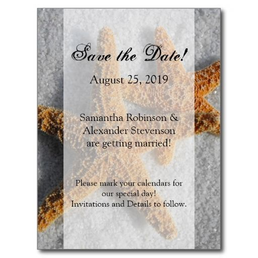 Best Beach Theme Save The Date Postcards Images On