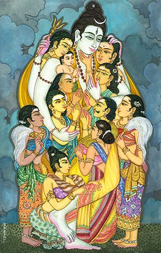 Art & Photos - Merging with Siva: Siva Hugging Many