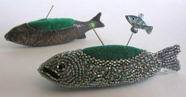 Silver fish pincushion antique n ldynor pincushions for P o fish