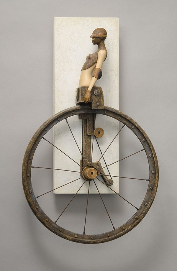 Unicycle John Morris Wood, Paint, Metal 34cm x 21cm $2550