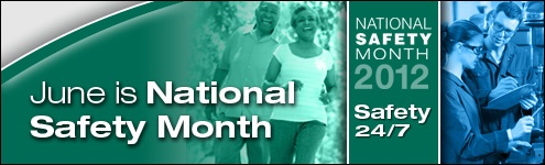 June -- Month long Observance-- NAtional Safety Month -- discuss some safety measures with your kiddos.