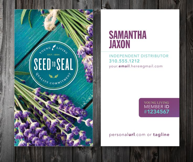 CUSTOM Young Living BUSINESS CARDS — FIVE DESIGNS \\ two sizes & card stocks: starting at $39.00!