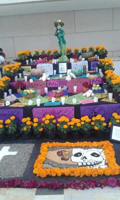 Altar de muertos en Centro Civico de Queretaro