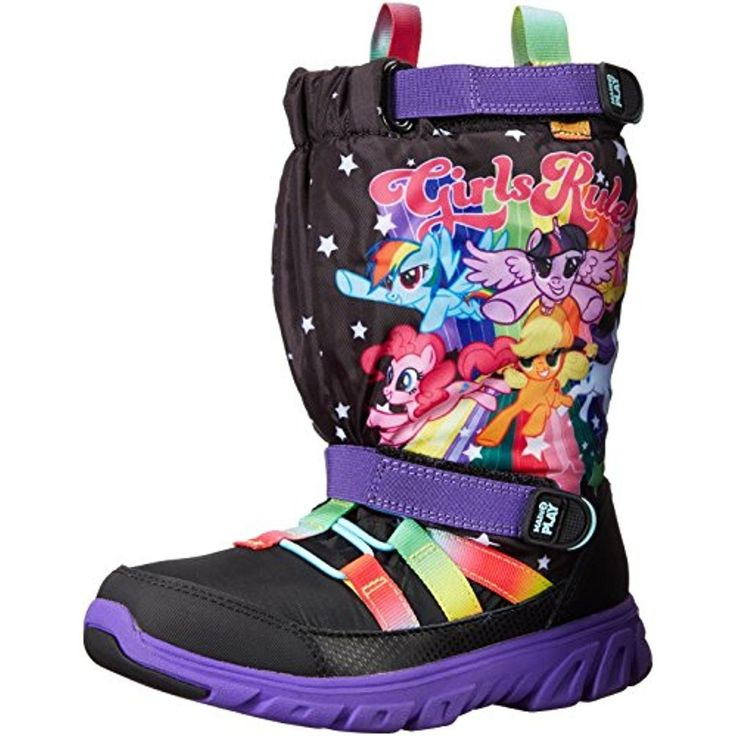 Stride Rite Girls My Little Pony Toddler Lined Snow Boots