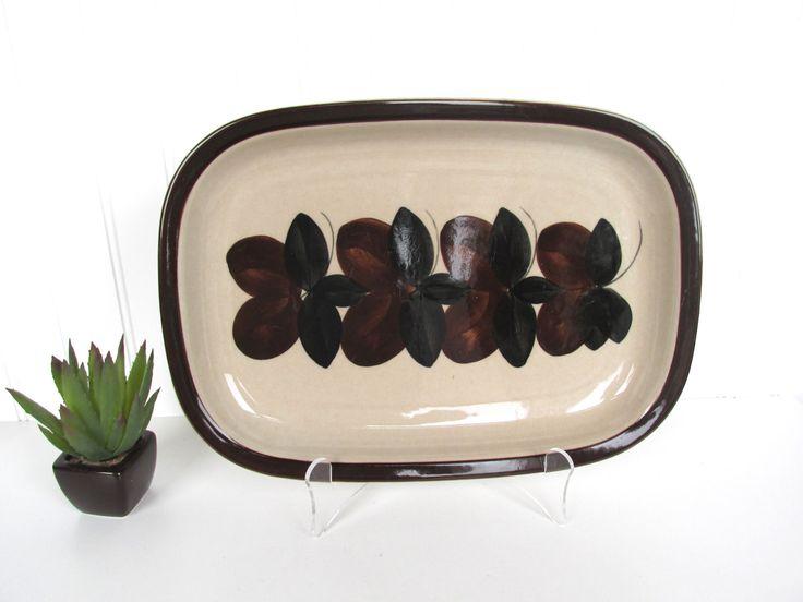Arabia Finland Ruija Rectangular Brown And Black Serving Platter by HerVintageCrush on Etsy