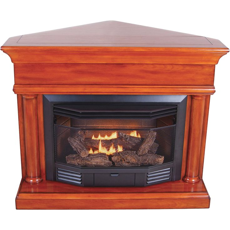 Gas Fireplace Kits : Procom dual fuel vent free fireplace with corner