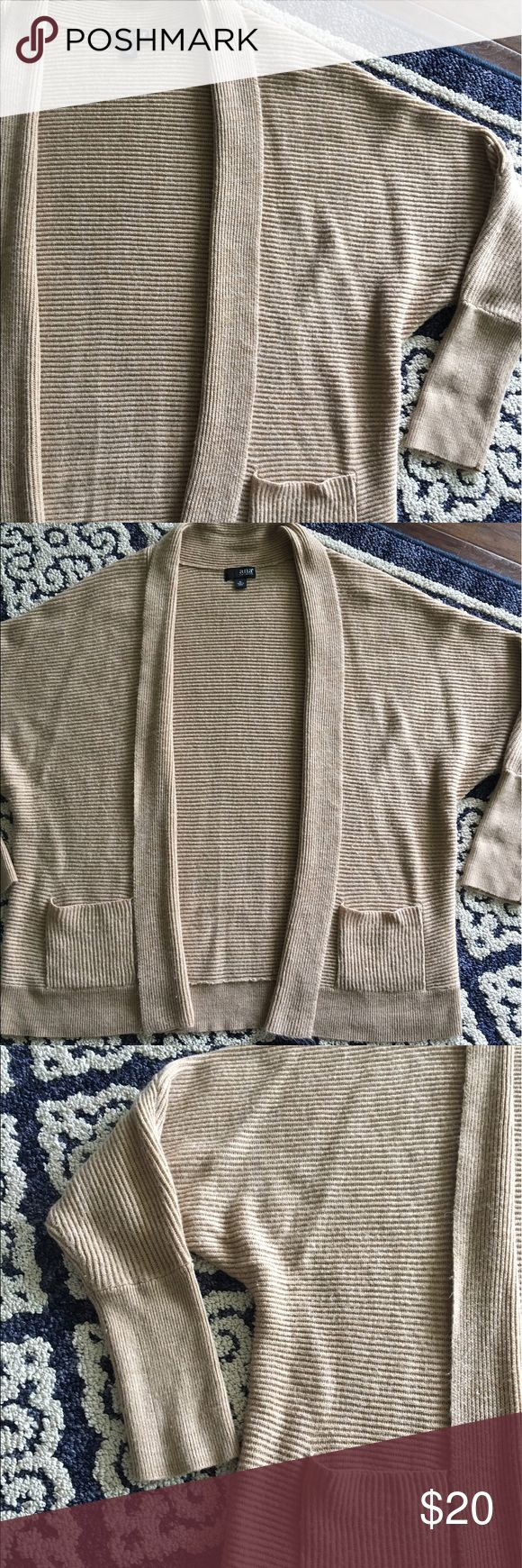 ANA Camel Color batwing cardigan Size xl EUC with pockets smoke free pet free! a.n.a Sweaters Cardigans