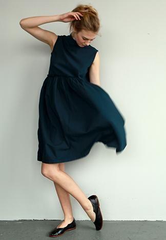 [ raw waist dress ]