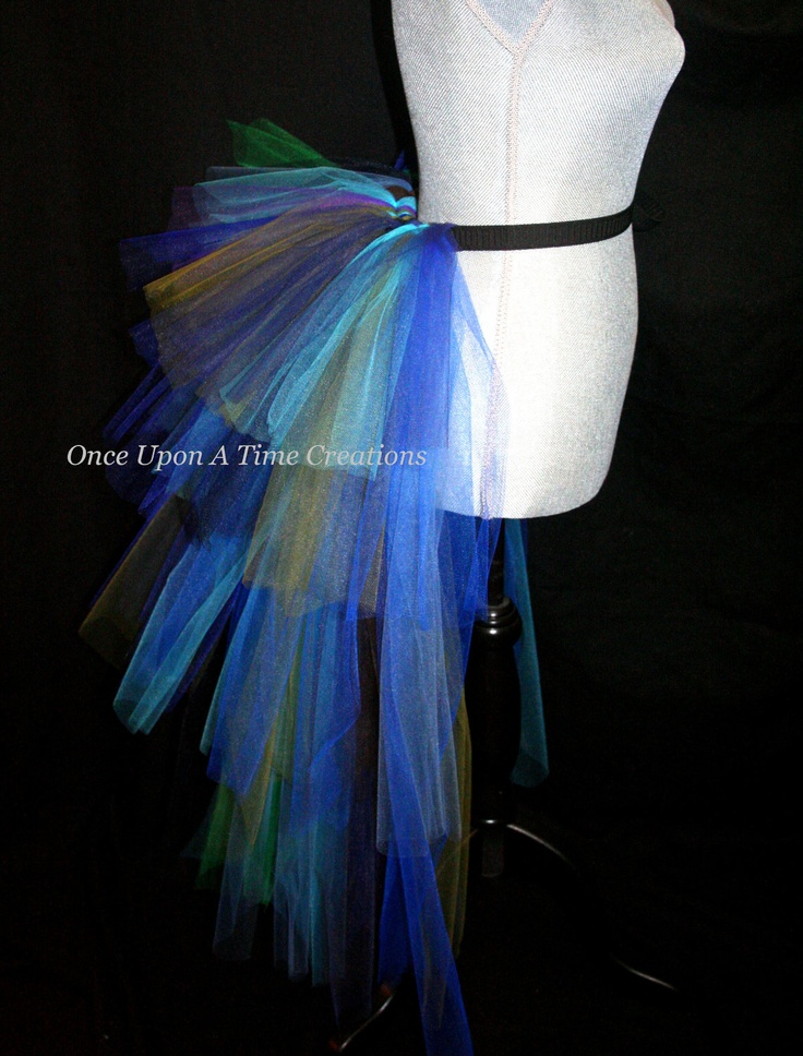 Peacock Bustle Tutu. For the Tea and Tutus party I hope to host someday.