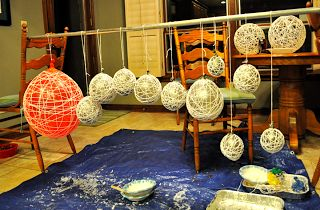 Matrimonial Meg: DIY: String Lanterns