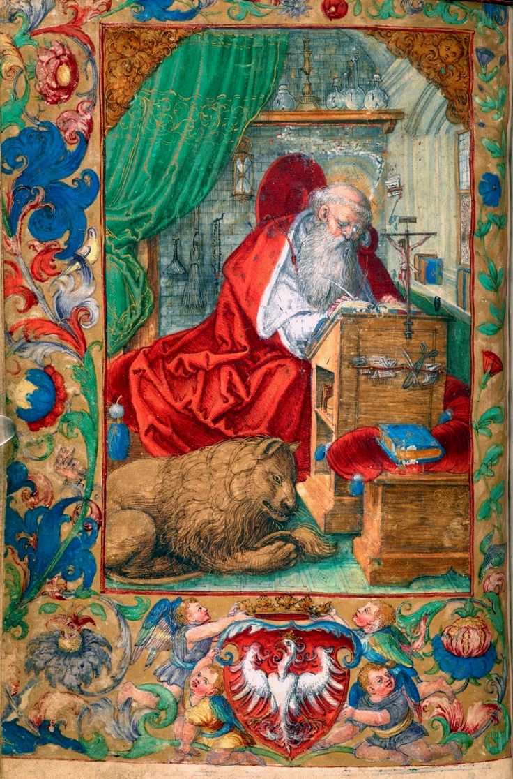 Saint Jerome A Leaf From The Prayer Book Of Sigismund I The Old By Stanis Aw Samostrzelnik