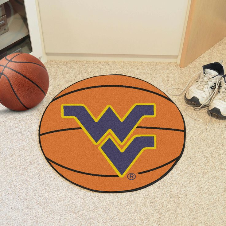 West Virginia University Basketball Mat 27 diameter