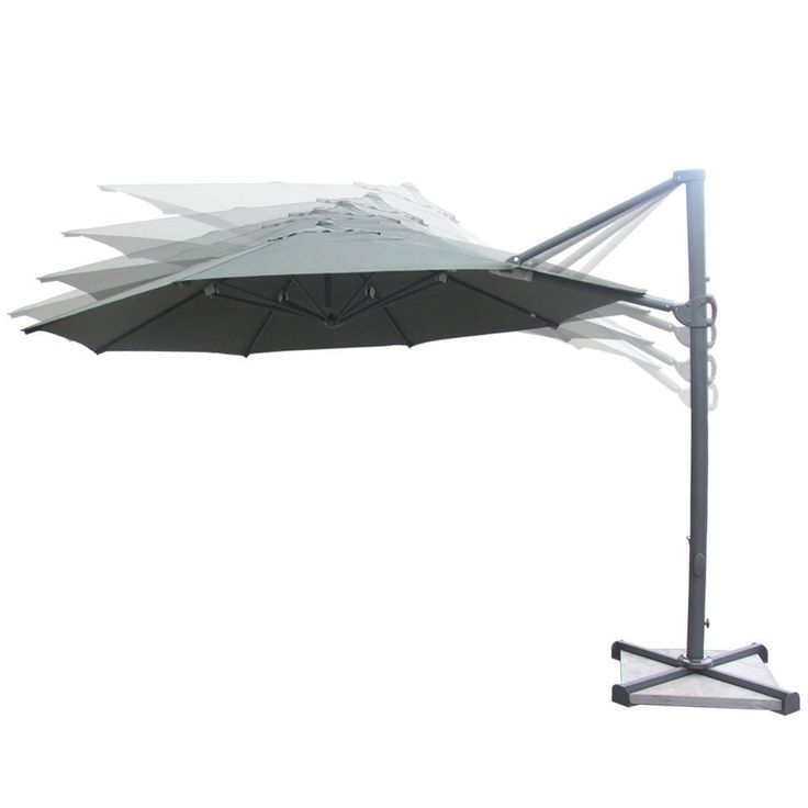 Abba Patio 11 Ft Offset Umbrella,Outdoor Hanging Parasol With Cross Base  And Vertical Tilt,Olefin Fabric,Dark