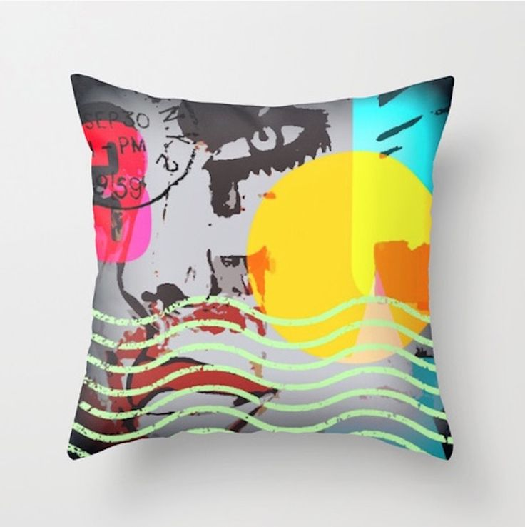 New bold fashion pillow by LeonLionStudio 3 sizes, double sided print ! LeonLionStudio.com FB: LeonLionStudio on Facebook  Etsy : LeonLionDecor 5 brand new pillows added this week! :-)