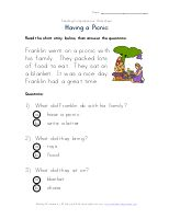 Easy Reading Comprehension - Getting Ready for School   Kids Learning Station