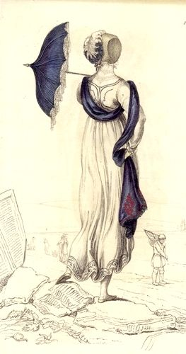 1810s promenade outfit for the sea side