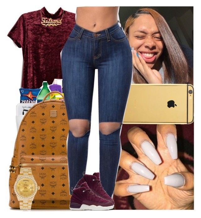 """""""Untitled #1427"""" by msixo ❤ liked on Polyvore featuring Zales, Goldgenie, MCM, NIKE and Rolex"""