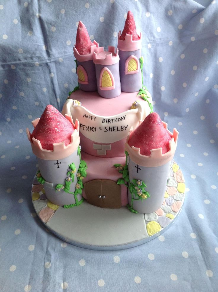 Fairy Tale Castle Cake.  This one included turrets filled with rocky road pieces, just waiting to be broken into.