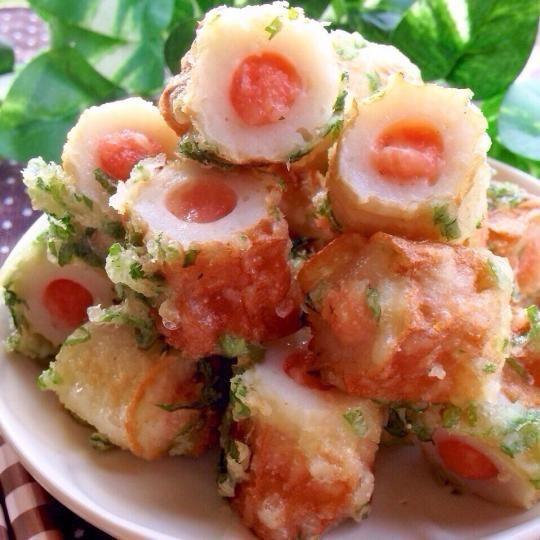 お弁当に入れたい♡バリエーション豊富なチーズインおかずレシピまとめ ... 明太子チーズインちくわ天