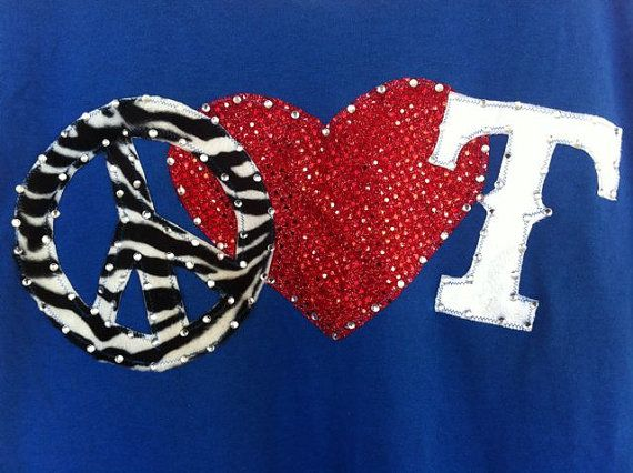 Texas Rangers Shirt by ThreadsToo on Etsy, $25.00