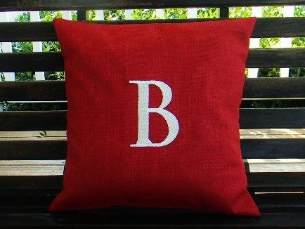 Monogrammed Initial Indoor / Outdoor Pillow Cover By DesignsByThem