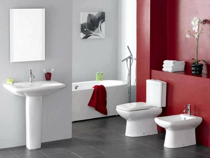 132 best Bathroom Designs images on Pinterest Bathroom designs - red bathroom ideas