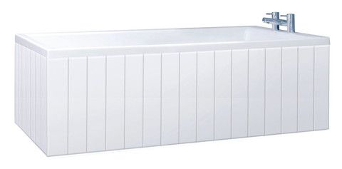 Tongue And Groove Gloss White 2 Piece Adjustable MDF Bath Panel | thebathpanelshop.co.uk