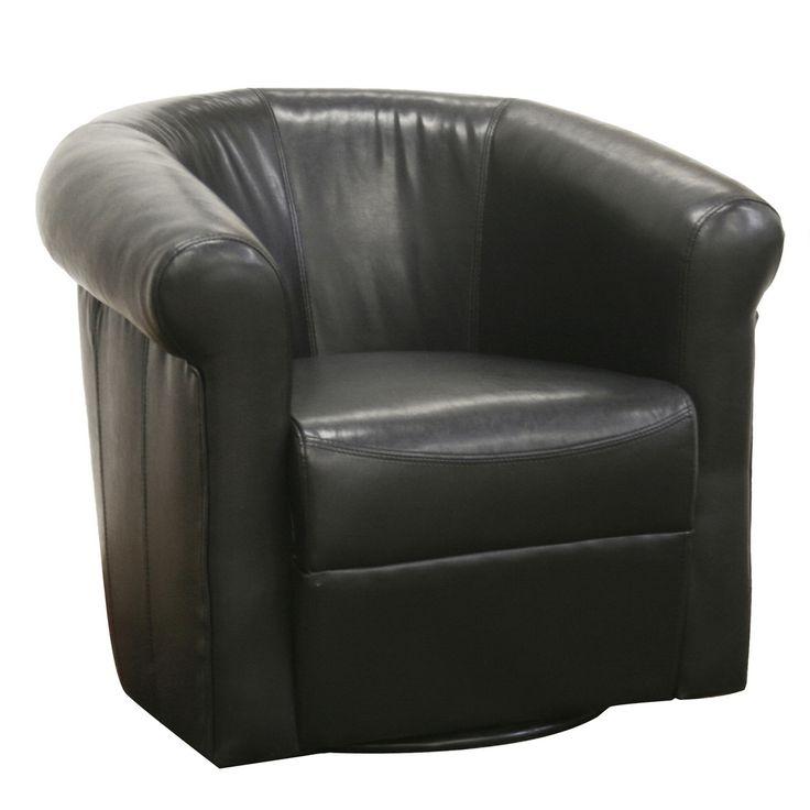 baxton studio 39 julian 39 black faux leather club chair