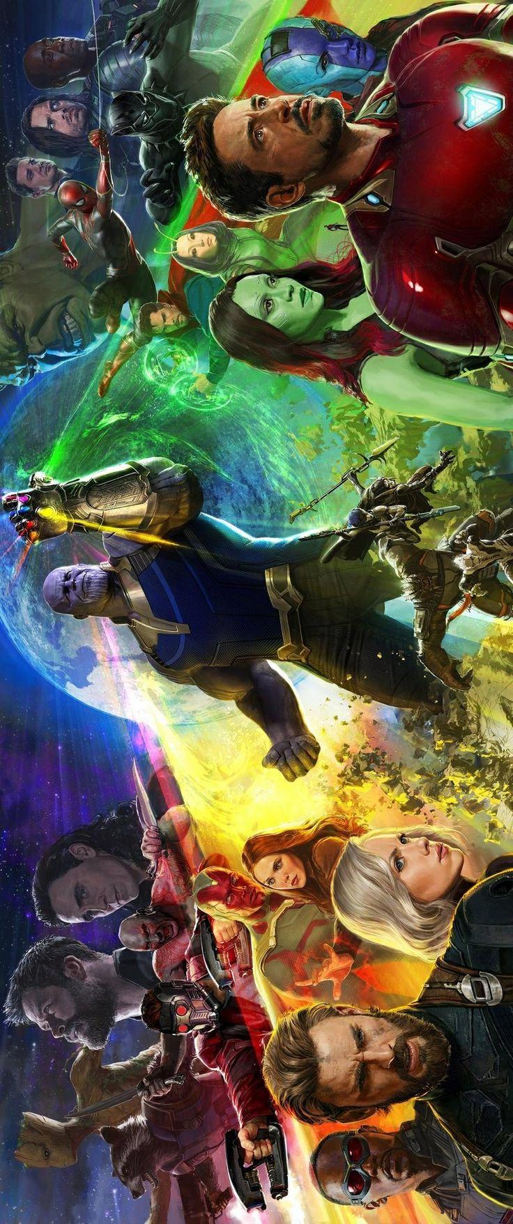 Pôster Guerra Infinita (Infinity War ). Parte 1 (2018) , Parte 2 (2019) Marvel Studios.