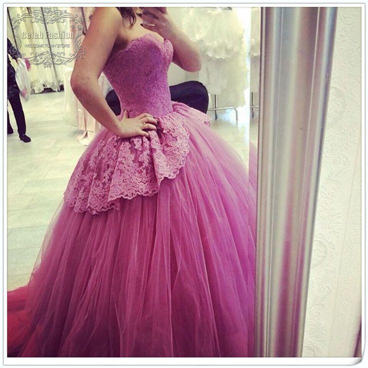 Свадебное платье 2016 фиолетовый цвет мода бальное платье свадебное платье без бретелек бутик свадебное платье