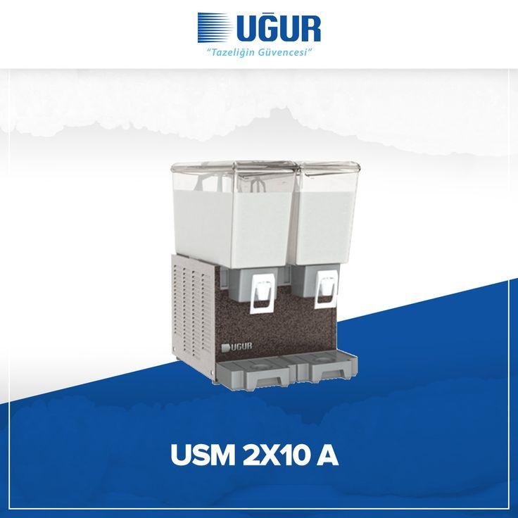 USM 2X10 A birçok özelliğe sahip. Bunlar; meşrubat ve ayran için mükemmel teşhir imkanı, yüksek ve düşük kıvamlı içecekler için çeşitli hacim seçenekleri, marka uygulaması yapabilen şeffaf hazne, çelik gövde ve temizlik işlemlerinin etkin bir şekilde yapabilmesine imkan verecek şekilde ayırabilen parçalar. #uğur #uğursoğutma