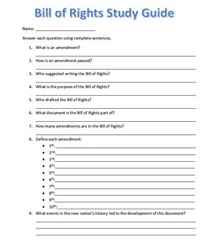 Bill of Rights Study Guide Flashcards - Cram.com