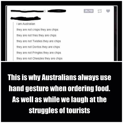 Australians vocabulary at its best
