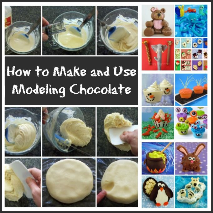Learn how easy it is to make modeling chocolate (candy clay) and how to fix it if it's greasy, dry, or sticky. See how to color, sculpt, cut and mold it...