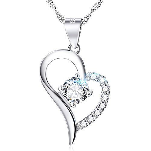 Valentines Day Gift For Her Girls Sterling Silver Necklace Pendant Love Women  #YFN